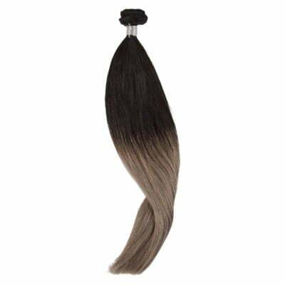 100 gram Luksus hair extensions 50 cm grå balayage farve 1-61/62