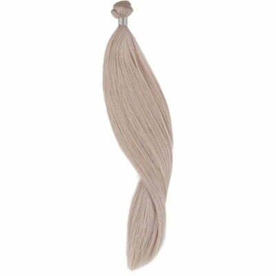 100 gram luksus hair extensions. 50 cm farve 61 light grey
