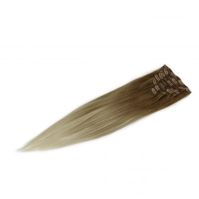 Clip-on hairextensions, 100 gram, 50 cm, balayage 5/5-60/60