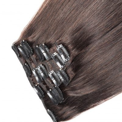 Clip-on hairextensions, 100 gram, 50 cm, farve 4