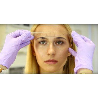 Klistermærke lineal til permanent makeup 25 stk