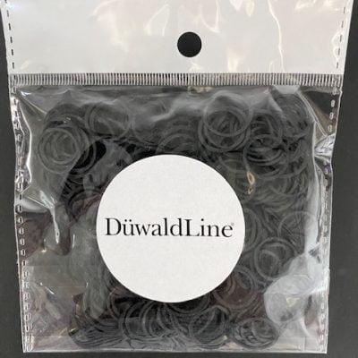 Små silicone elastikker i sort // 250 stk 99 kr