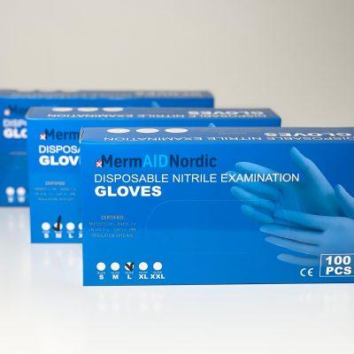 Nordic Blue Nitril handsker M-XXL (100 stk)