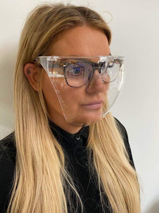 Ansigsts visir til briller, ansigtsvisir, CE Godkendt ansigtsvisir
