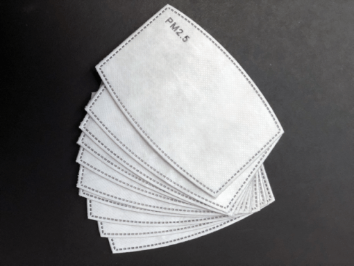 Aktivt kul filter, stofmundbind med aktivt kil